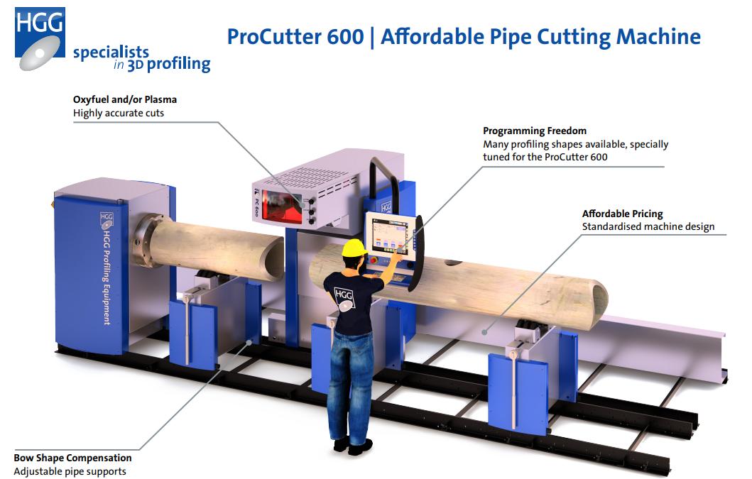 HGG ProCutter 600 pipe cutting machine