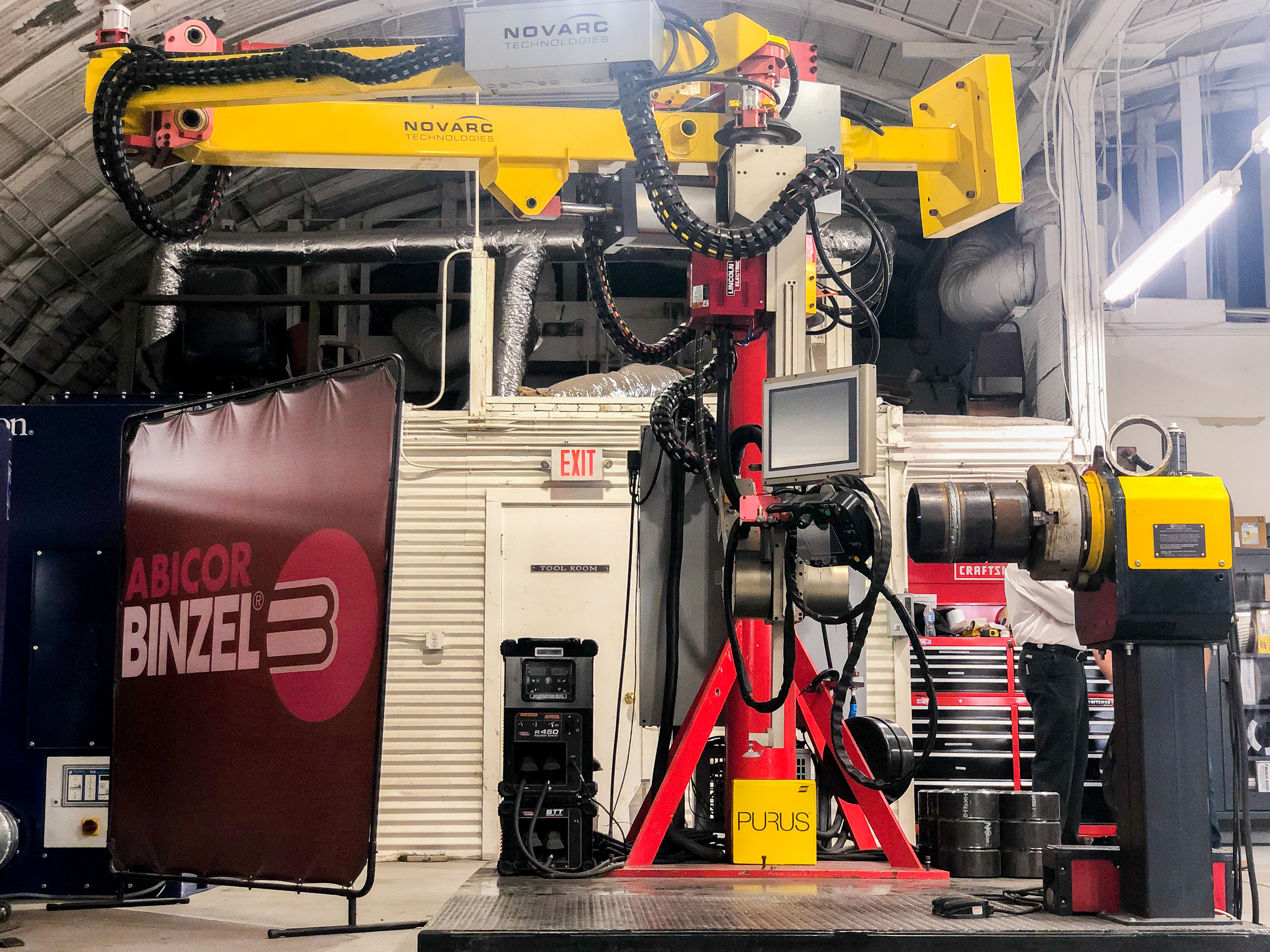 The Novarc Spool Welding Robot at the Red Ball Oxygen Welding Lab