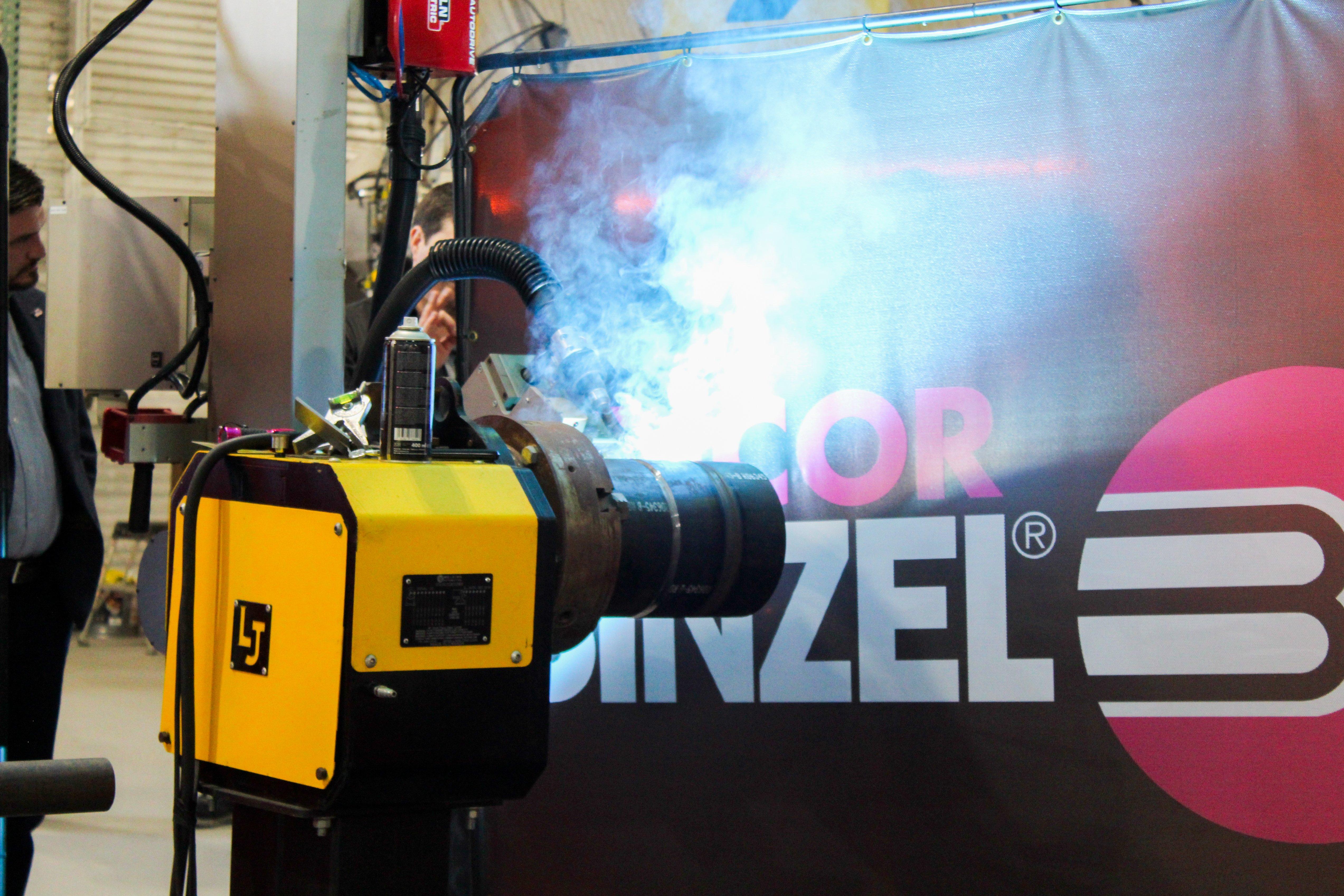 The Novarc Spool Welding Robot in action